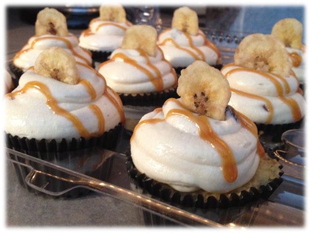 Banana Caramel cucpcake framed
