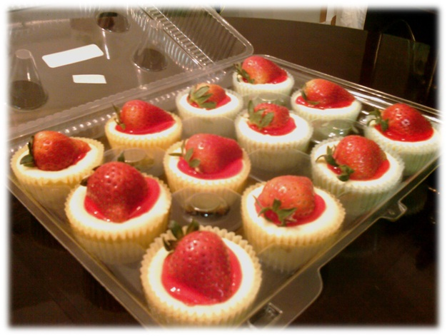 Strawberry Cheesecake cupcakes framed