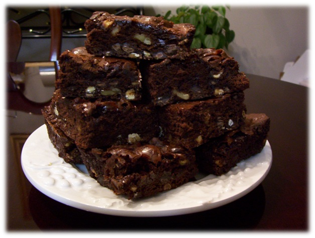 Triple Chocolate Chip Brownies.JPG framed