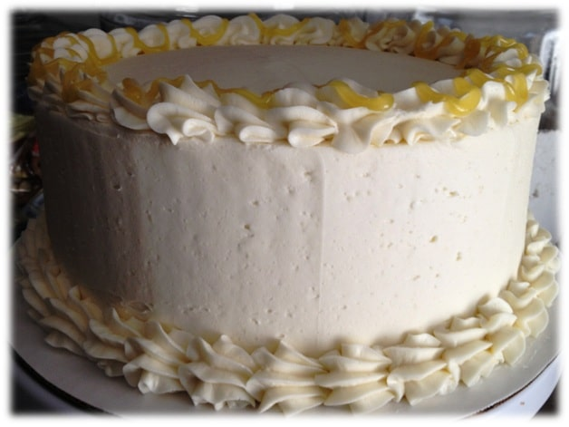 Lemon curd white chocolate cake