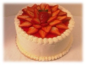 White chocolate cake with Strawberry