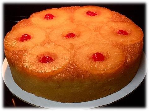 upside down pineapple cake-framed